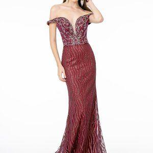 Illusion V-Neck Sequin Mermaid Prom Dress GSGL1818
